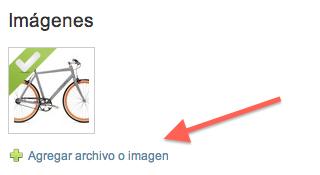 Donde subir imágenes de productos