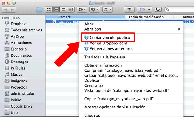 Dropbox - enlace público